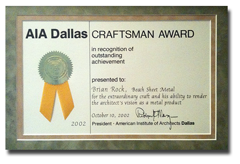AIA Dallas Craftsman Award
