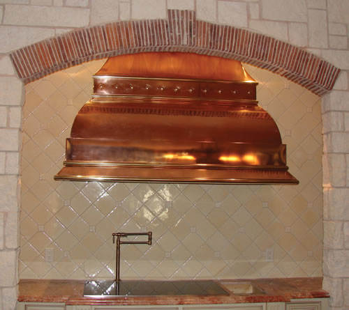 Countertop Vent : Hand-hammered copper counter tops are available.
