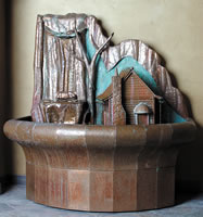 Hand Crafted Artistry - Water Fountain House #4